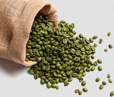 granuli di caffè verde